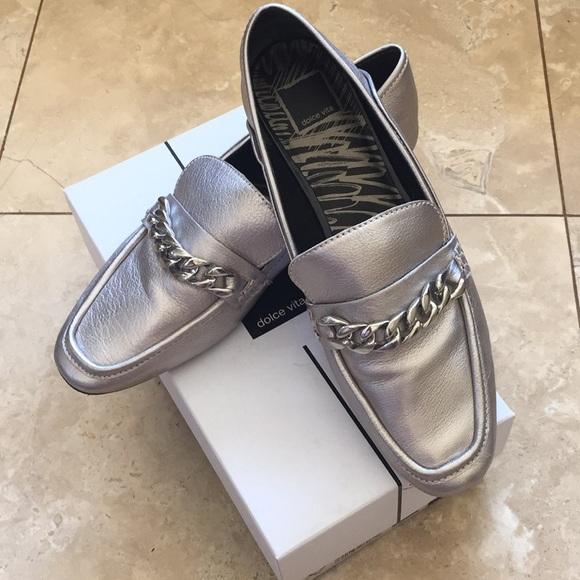 de53321b051 Dolce Vita Shoes - Dolce Vita Silver Loafer